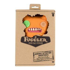 FUGGLER Funny Ugly Monster Orange Teddy Bear New